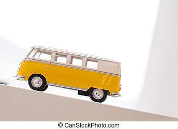 Retro old toy car