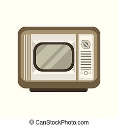 Retro old TV vector Illustration on a white background