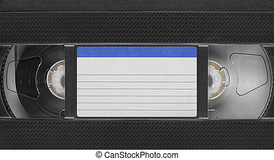 Retro old video tape cassette with blank label