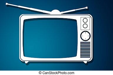 Retro old vintage television set