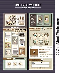 retro one page website design template
