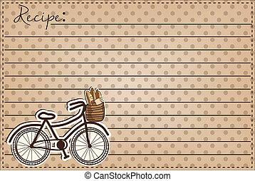 Retro or vintage bicycle with a basket full of bread