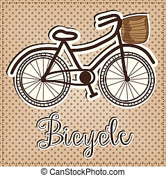 Retro or vintage bicycle with a basket