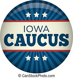 Retro or Vintage Style Iowa Caucus Campaign Election Pin ...
