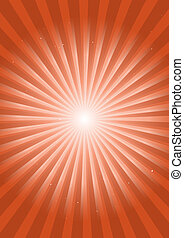 Retro orange space flare illustrati