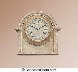 retro, orologio parete
