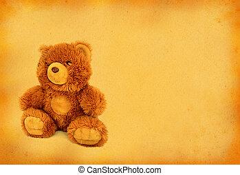 retro, oso, teddy