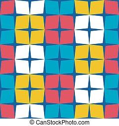 retro, padrão, seamless, meio, geomã©´ricas, século