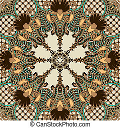 retro paisley seamless pattern
