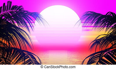 Retro Palm Trees