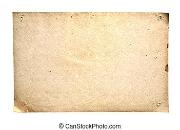 retro, papel, aislado, blanco