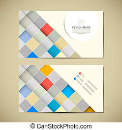 Retro Paper Business Card Template