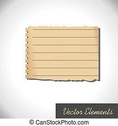 Retro Paper Element. Vector styled vintage label