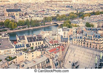 Retro Paris View