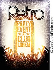 Retro Party Invitation Poster