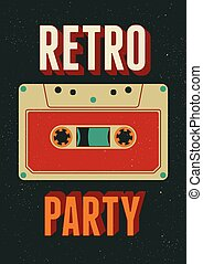Retro Party poster design.