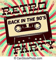 Retro party poster design.