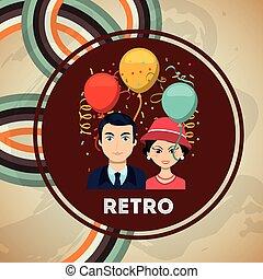 retro, party