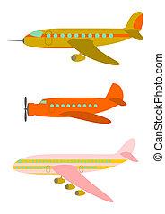 Retro passenger aircraft.