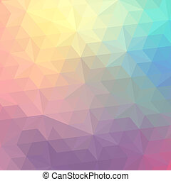 retro, patrón, de, geométrico, shapes., colorido, mosaico,...