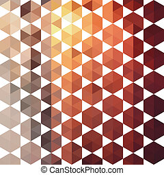 Retro pattern of geometric shapes