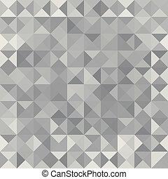 Retro pattern of geometric shapes. Grey mosaic banner.