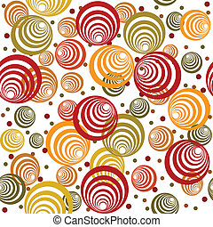 Retro pattern with abstract circles and dots