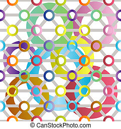 Retro pattern with colored circles