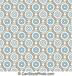Retro pattern with lines and circles - Abstract geometric...