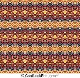 Retro pattern with swirls. EPS 10 vector illustration.