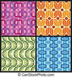 Retro Patterns - Four Retro style colorful patterns