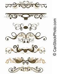 Retro patterns - Retro illustration of decorative patterns