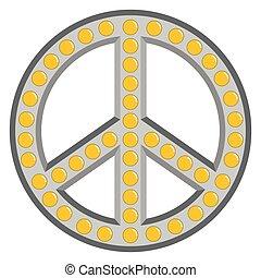 Retro peace symbol