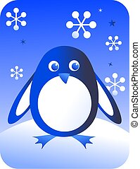 retro penguin - cute penguin design