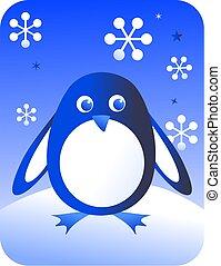 retro penguin - cute penguin design