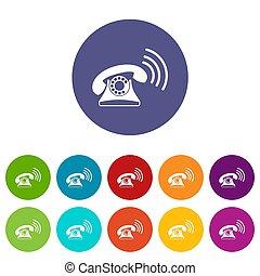 Retro phone set icons