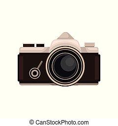 Retro photo camera vector Illustration on a white background