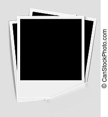 retro photo frame on paper backgrou