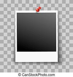Photo Frame - Retro Photo Frame on Transparent Background ...