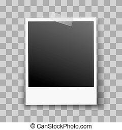 Photo Frame - Retro Photo Frame Stick on Transparent...