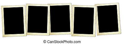 Retro Photo Frames - Five vintage photo frames, with...