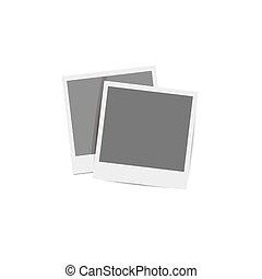 Retro photo frames.