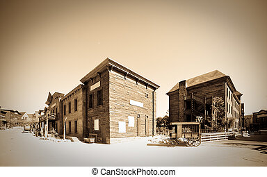 Far west town - Retro photo of Far west town
