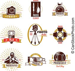 Retro Photographer Label Set