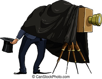 Photographer on a white background, vector illustration