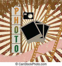 Retro photography grunge poster