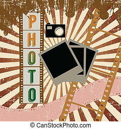Retro photography grunge poster