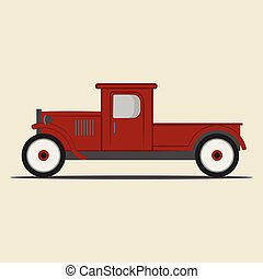 Retro pickup truck.