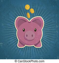 Retro Piggy Bank