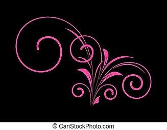 Retro Pink Floral Design
